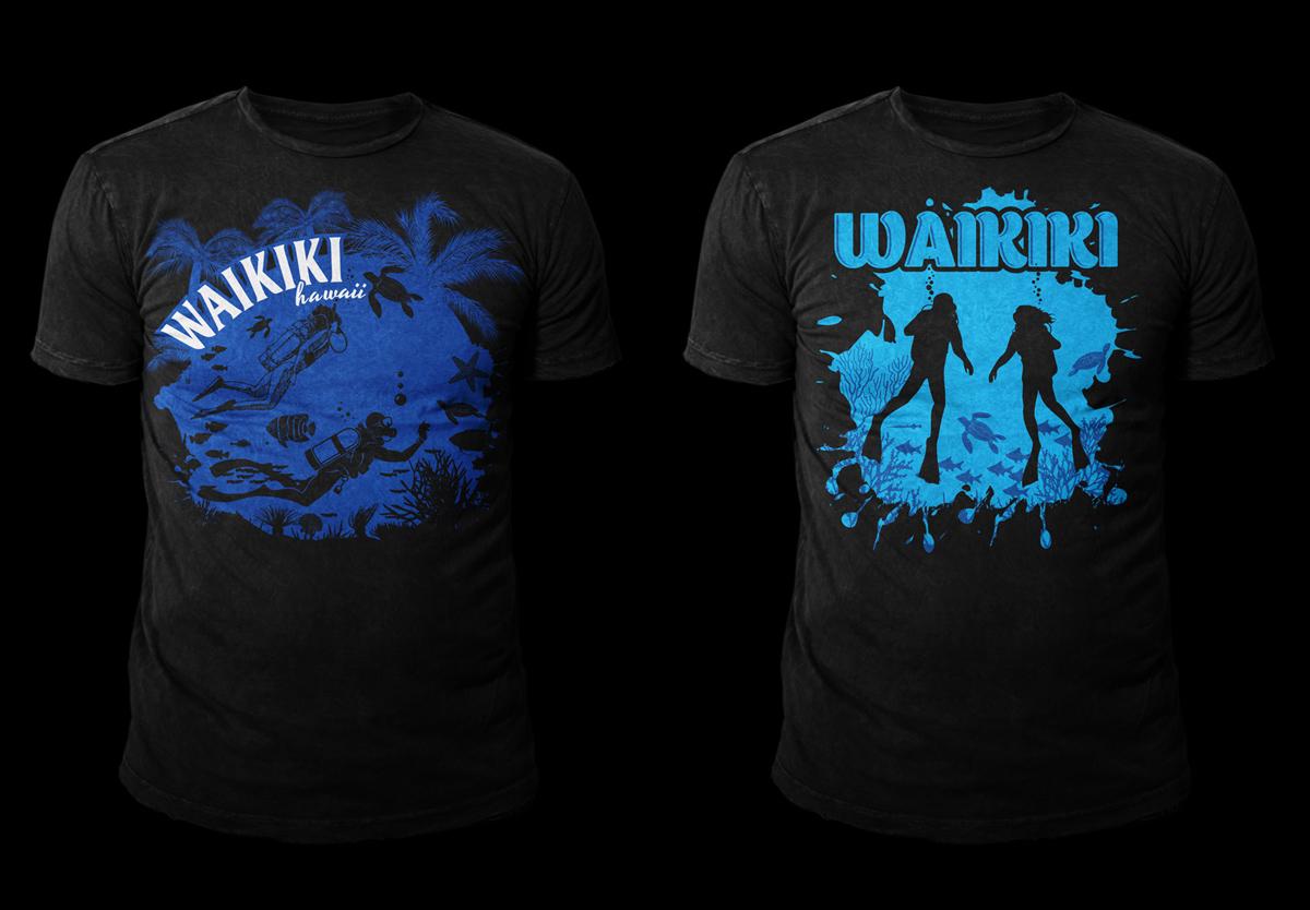 Shirt design ink - T Shirt Design By Kid Ink For Aqua Zone Scuba Diving T Shirt