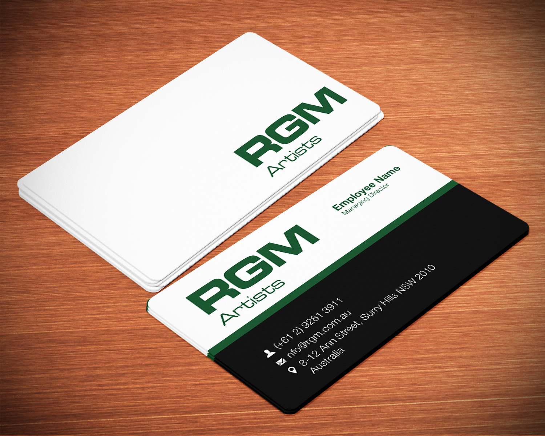 Professional, Modern, Artists Business Card Design for Media Venture ...