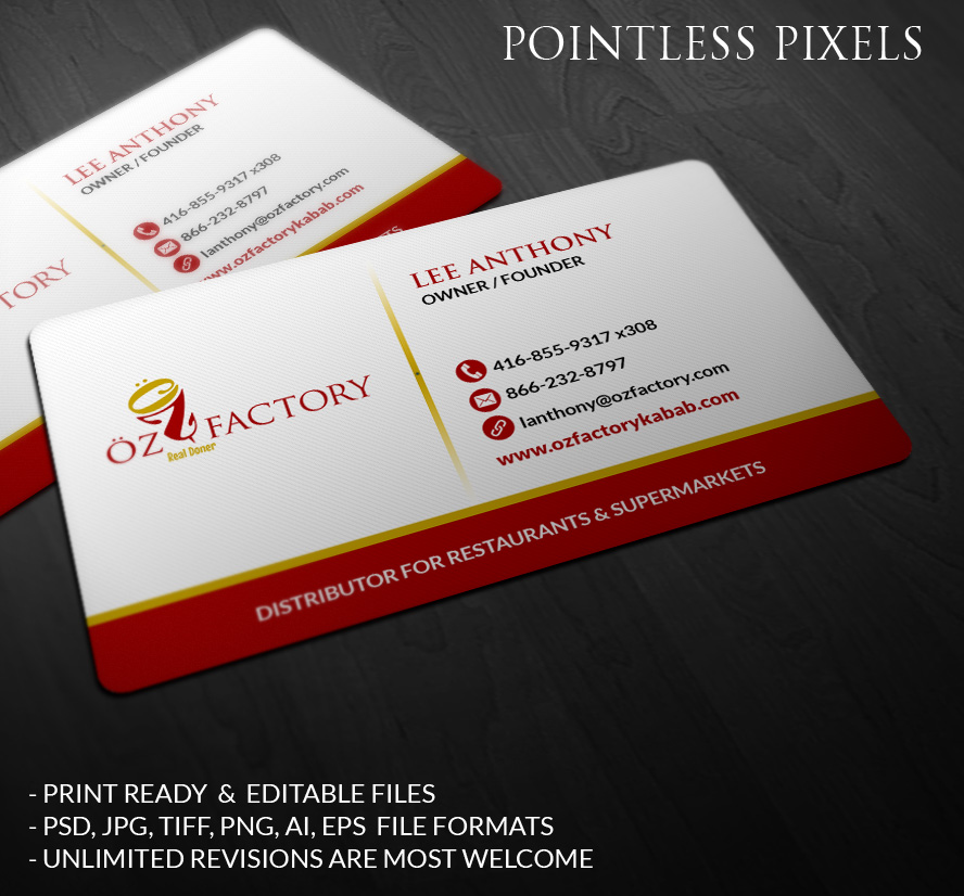 Business Business Card Design for Öz by Pointless Pixels India ...