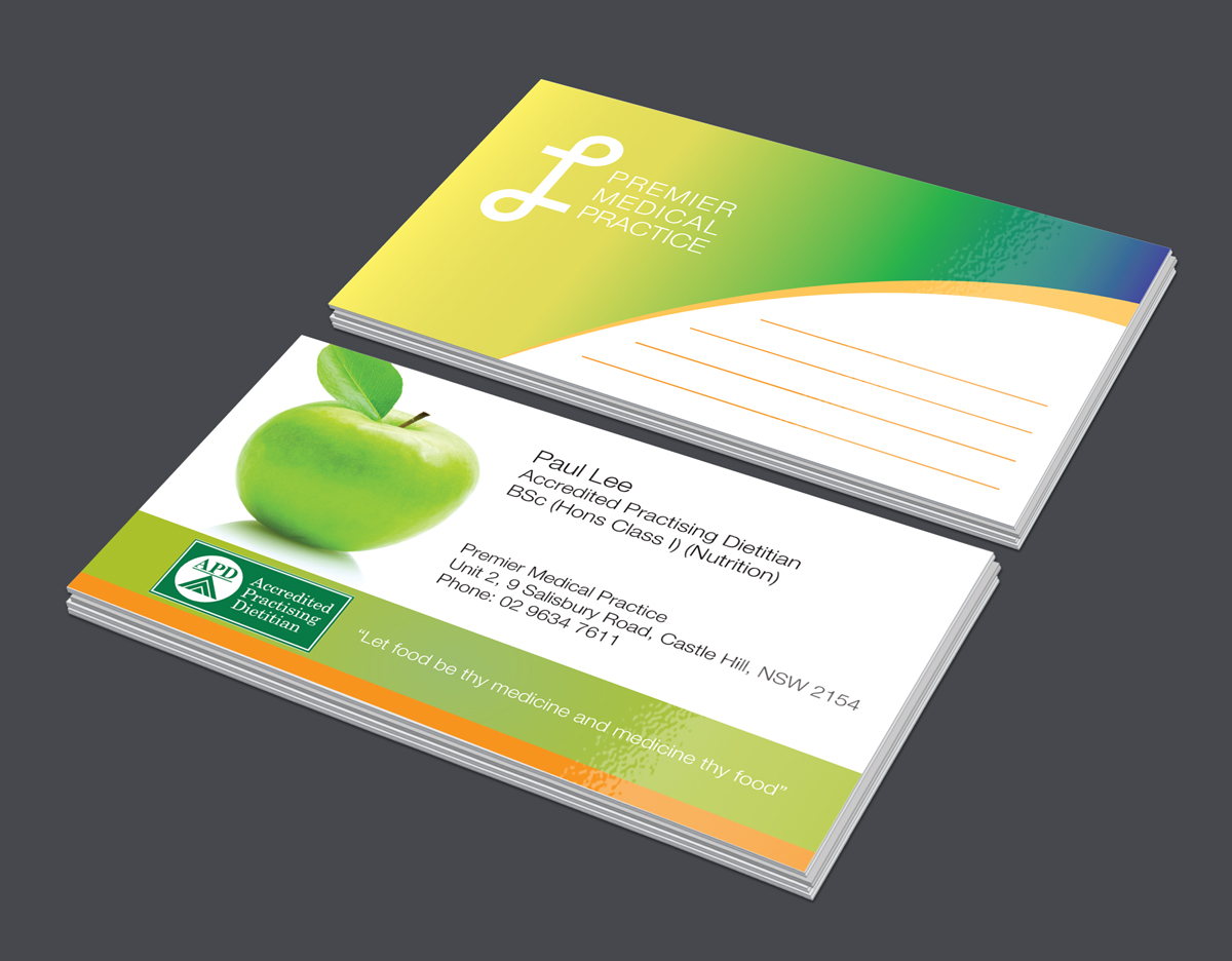 Nutrition Business Card Design For A Company By Designjeep Design 4957403