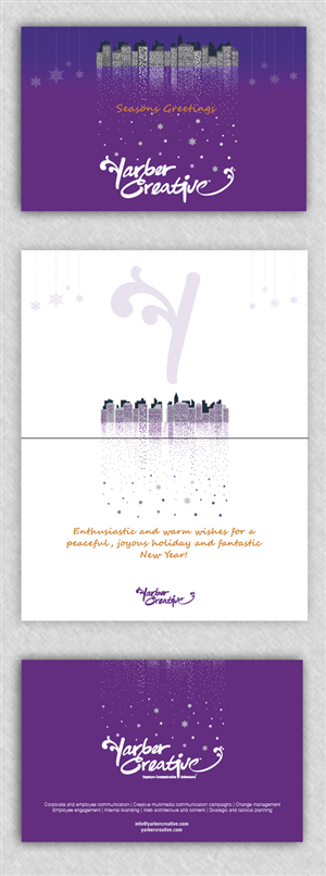 Greeting Card Design by Alaya - Holiday Card for Consulting Business