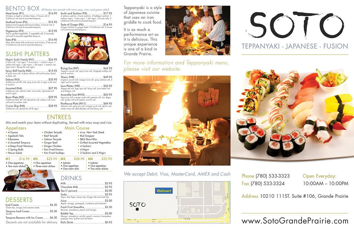 Takeout Menu Design For Japanese Restaurant 27 Brochure Designs