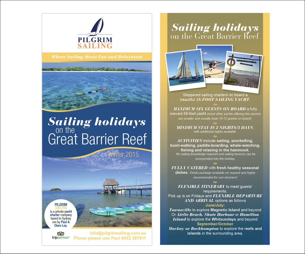 Upmarket, Bold, Business Flyer Design for Pilgrim Sailing