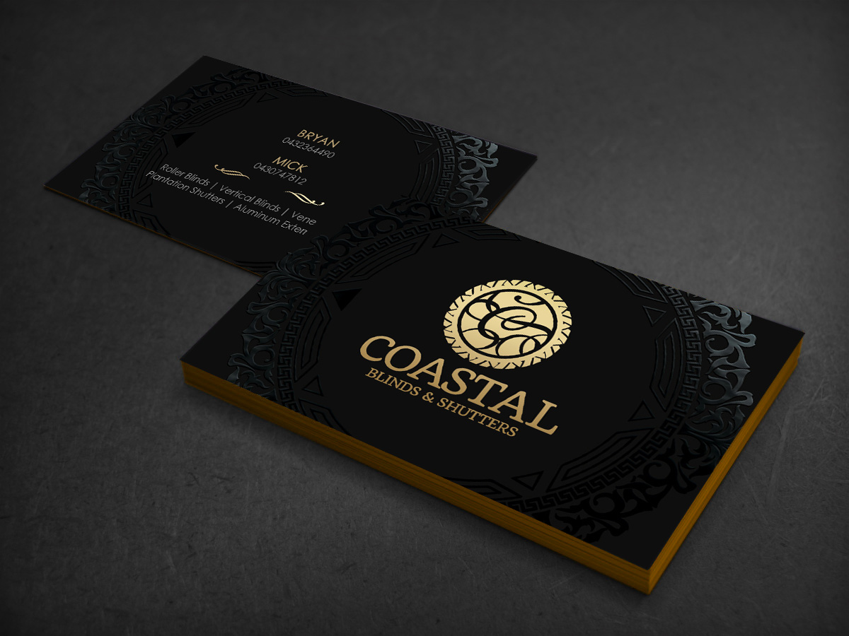 Upmarket Modern Business Card Design For Coastal Blinds