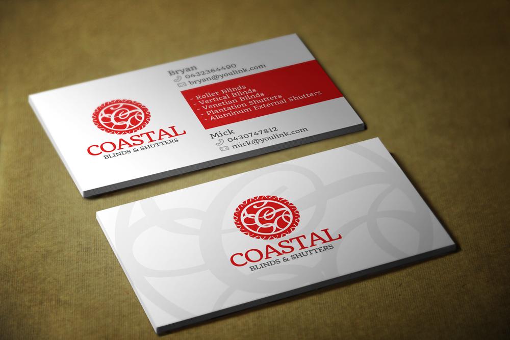 Upmarket, Modern Business Card Design for Coastal Blinds ...