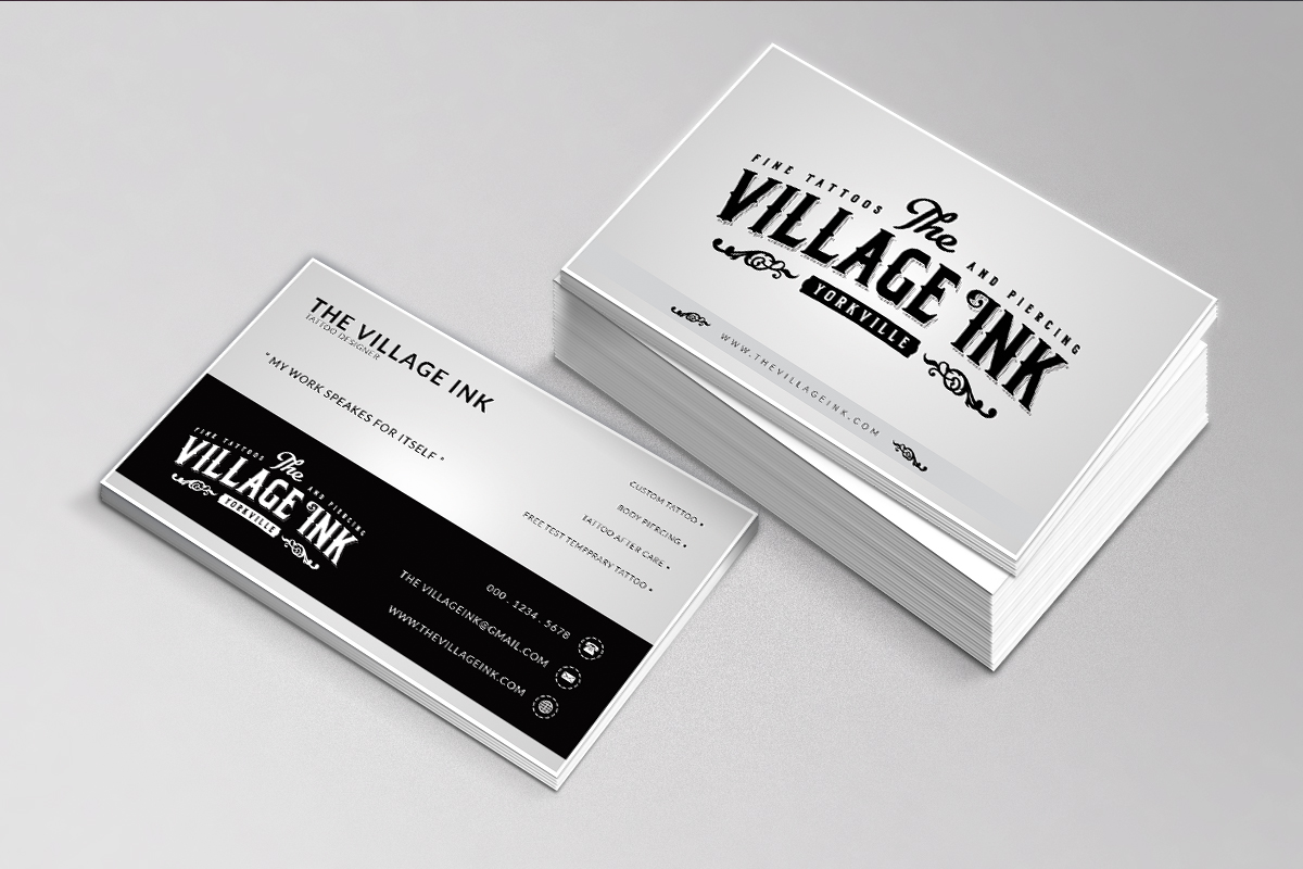 Free Tattoo Business Card Maker Gallery - Card Design And Card Template