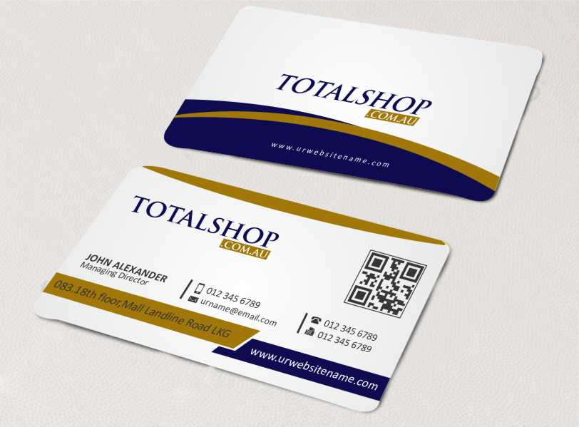 Modern, Colorful, Online Shopping Business Card Design for Totalshop ...