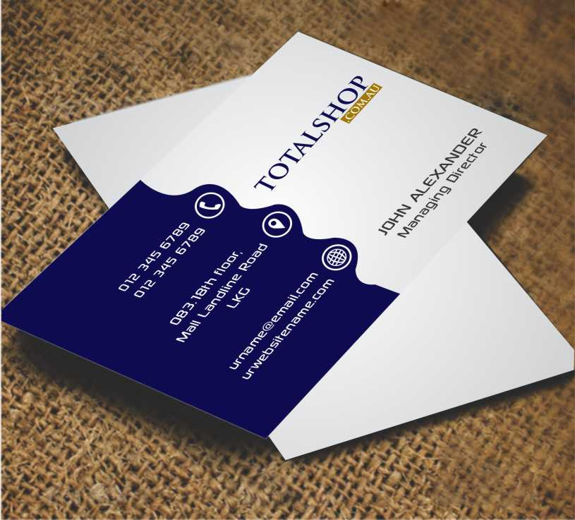 Modern colorful online shopping business card design for totalshop business card design by awsomed for totalshop design 4891220 colourmoves