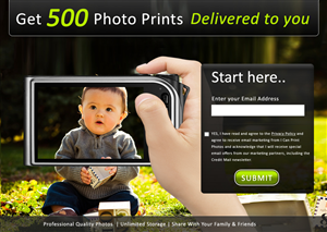 Web Design job – 500 Photo Prints – Winning design by webxvision