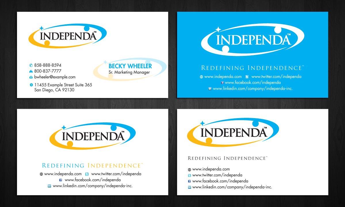 Modern upmarket printing business card design for independa by business card design by sbss for independa design 1376280 colourmoves