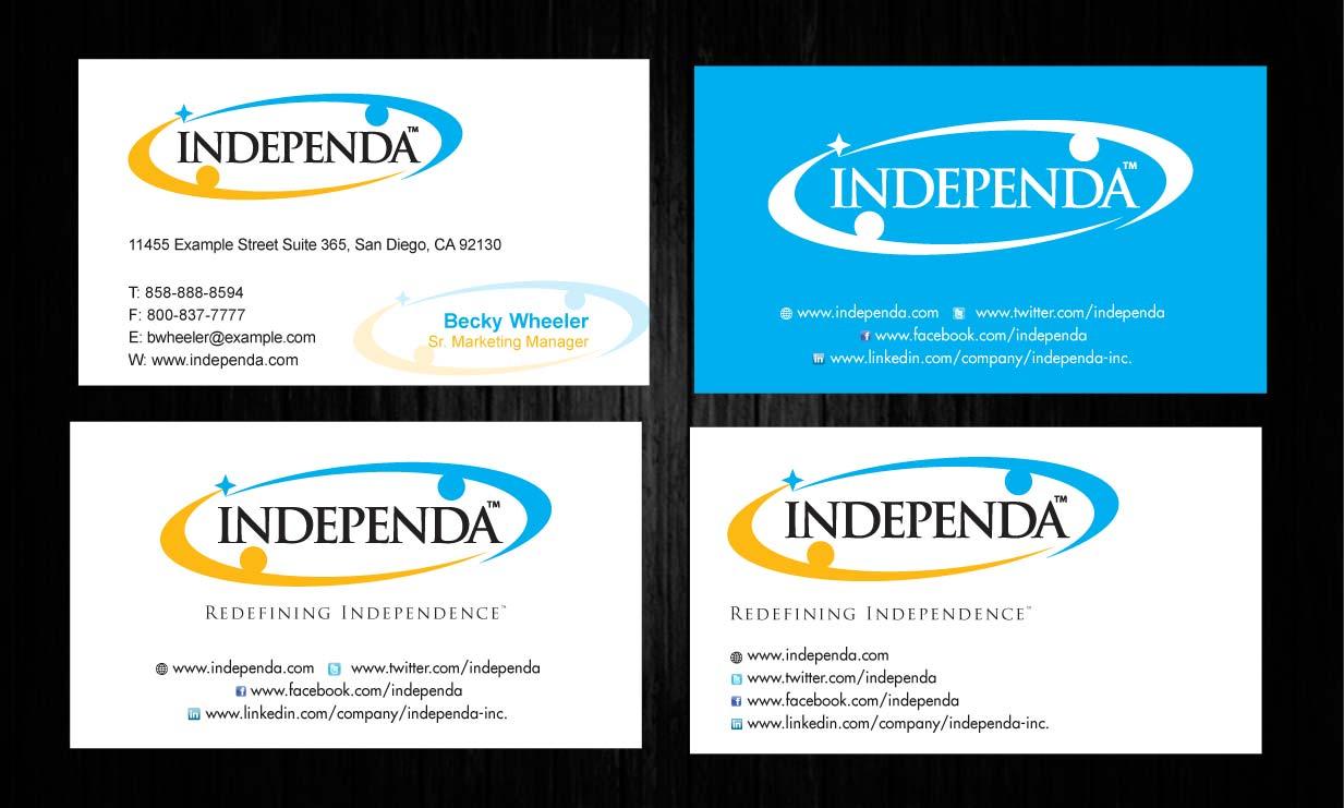Modern upmarket printing business card design for independa by business card design by sbss for independa design 1376961 colourmoves