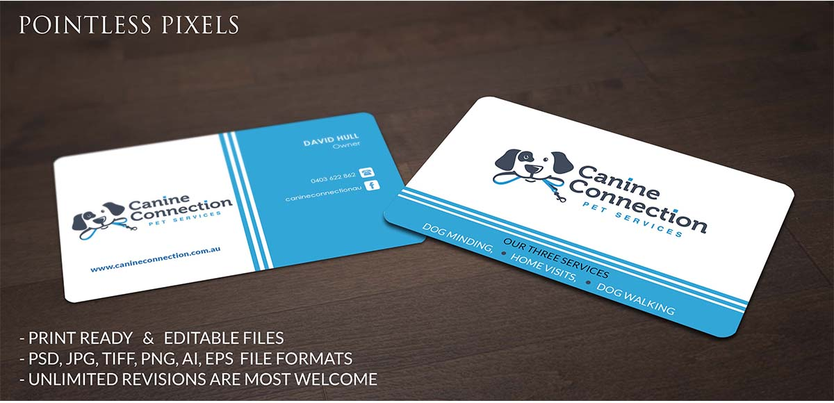 Personable bold business business card design for a company by business card design by pointless pixels india for this project design 4869344 reheart Choice Image