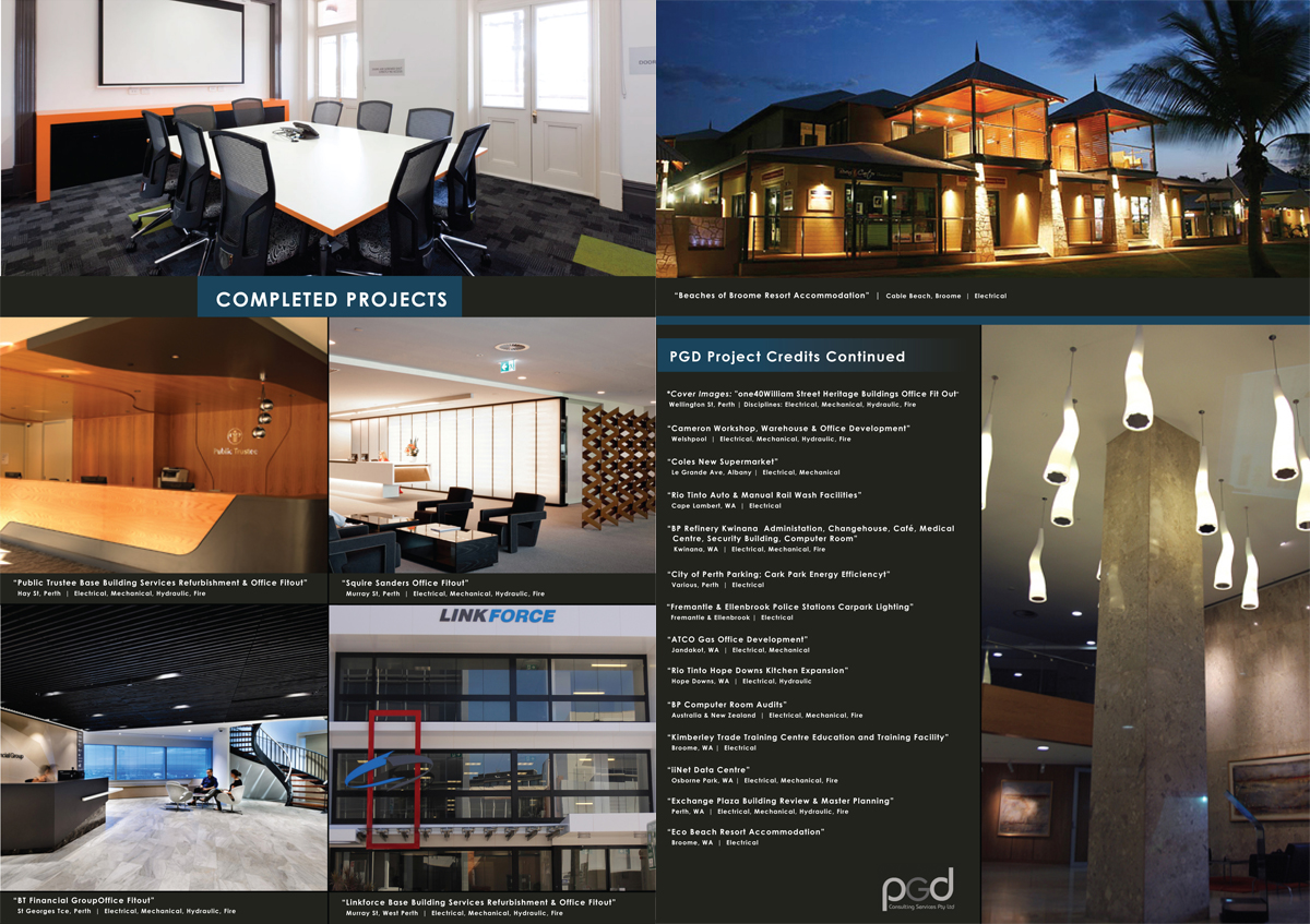Professional serious building brochure design for a for Professional building designer