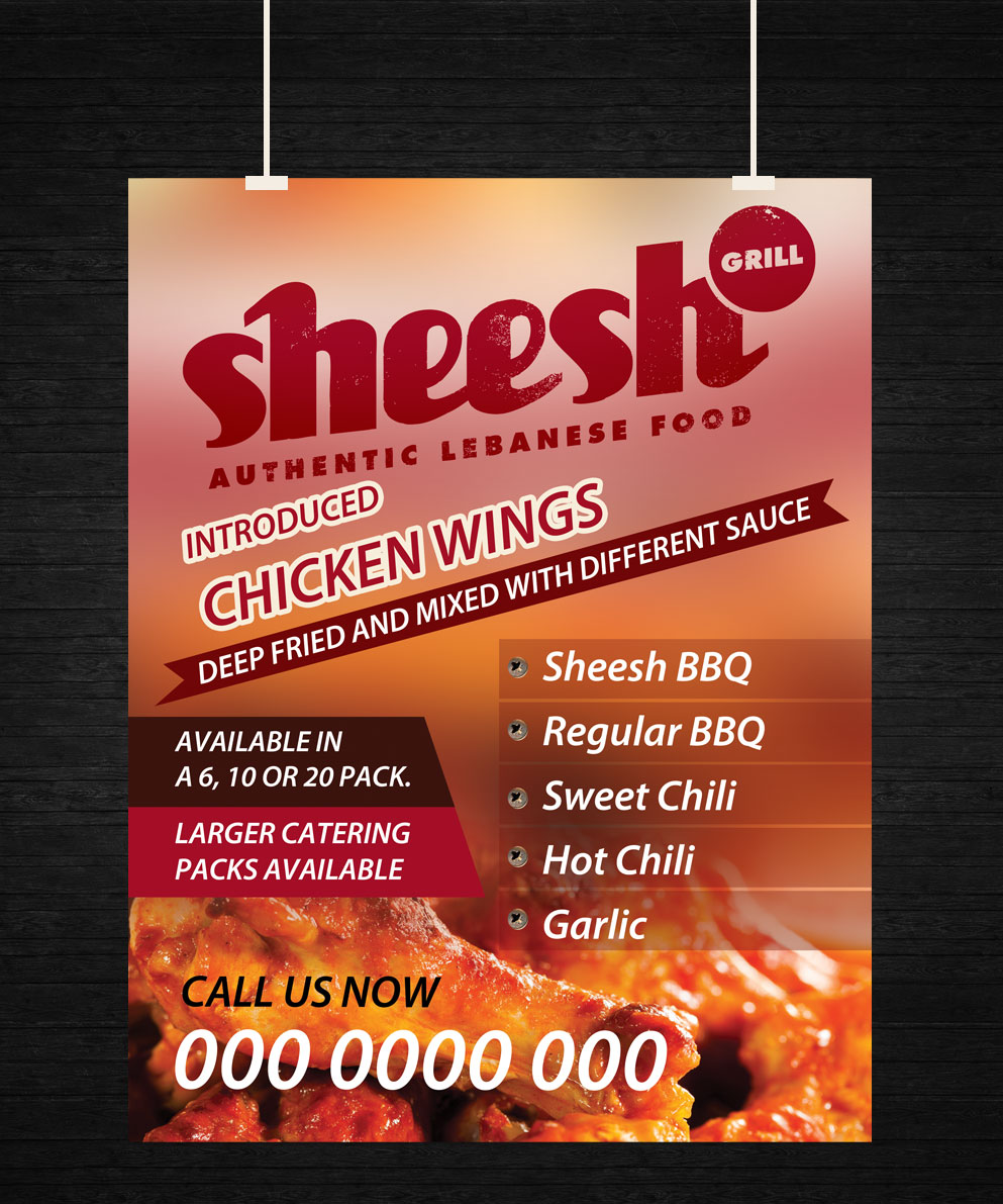 Poster design uk - Poster Design By Uk For Chicken Wing A0 And A4 Poster Design 4869622