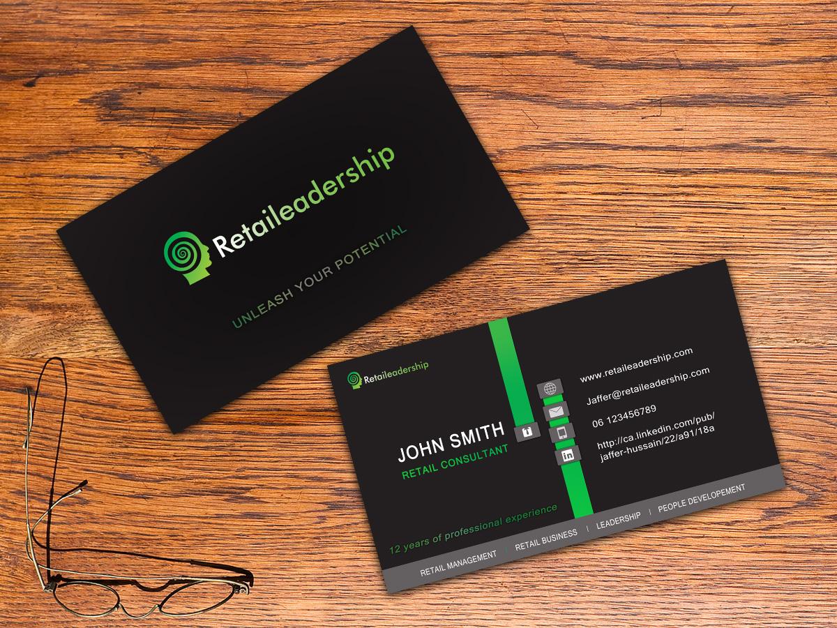 Modern elegant retail business card design for a company by business card design by blazs91 for this project design 4978331 colourmoves