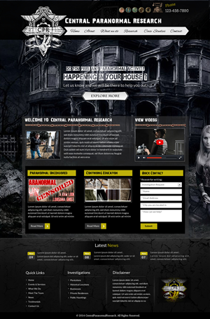 Web Design by smart - Central Paranormal Research Website