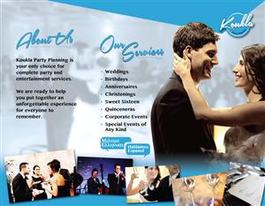 Brochure Design by Spread Media Inc. - Koukla Party Planning Brochure