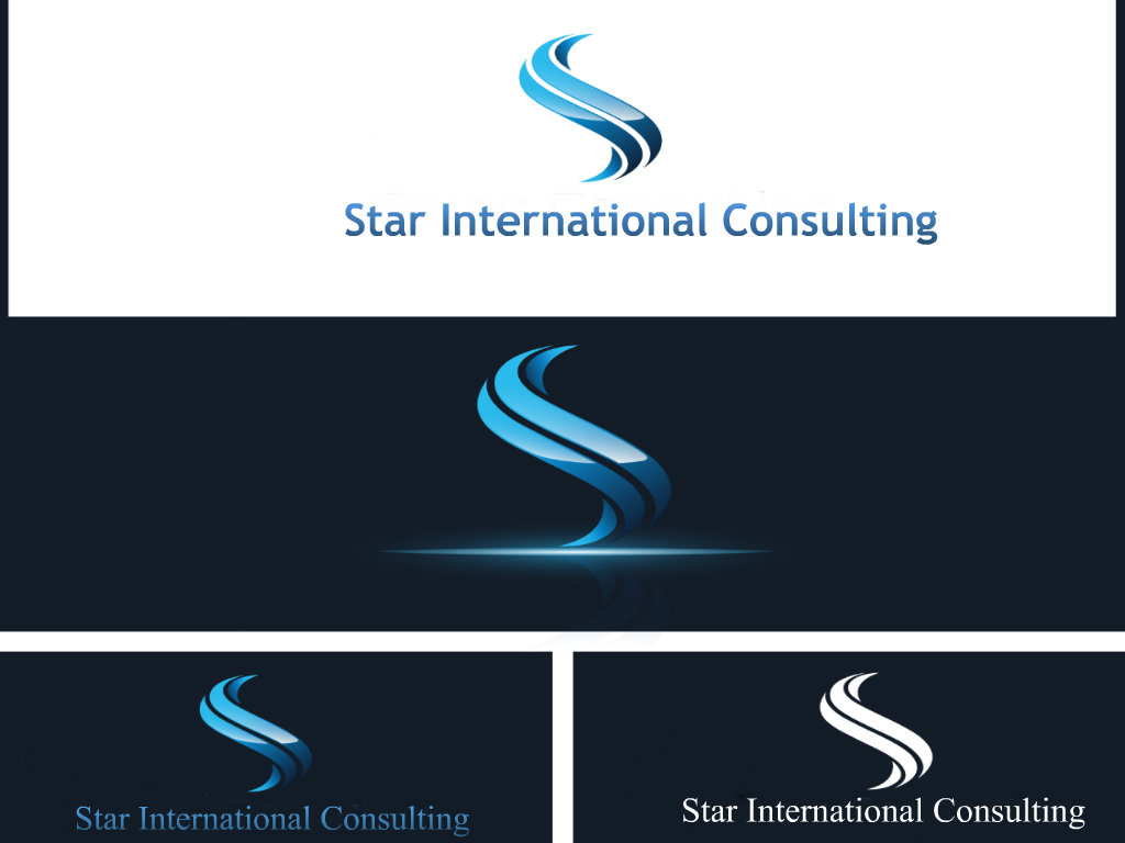 Business logo design for star international consulting for Design consultancy internship