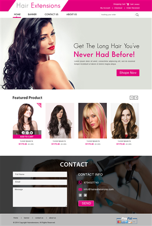 Web Design 4930360 Submitted To HAIR EXTENSIONS Closed