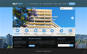 Wordpress Design by pb - Apartment building website (fully coded website)