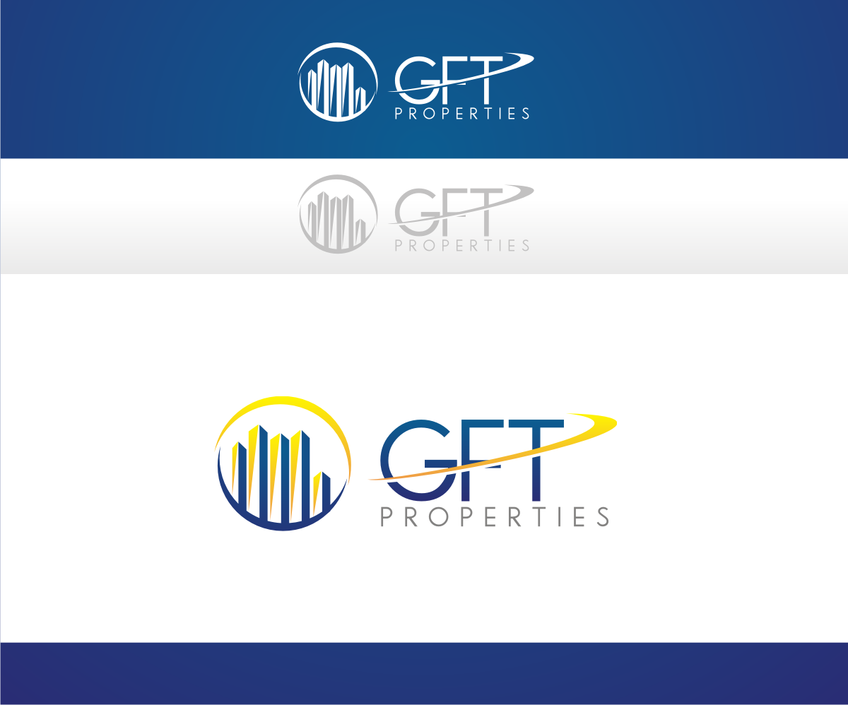 Bold modern business logo design for gft properties by r for D for design