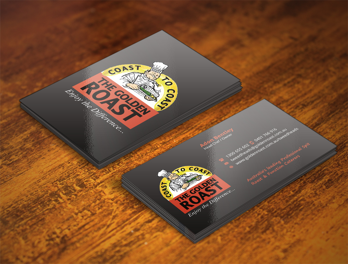 Catering Business Card Design for a Company by INDIAN_Ashok | Design ...