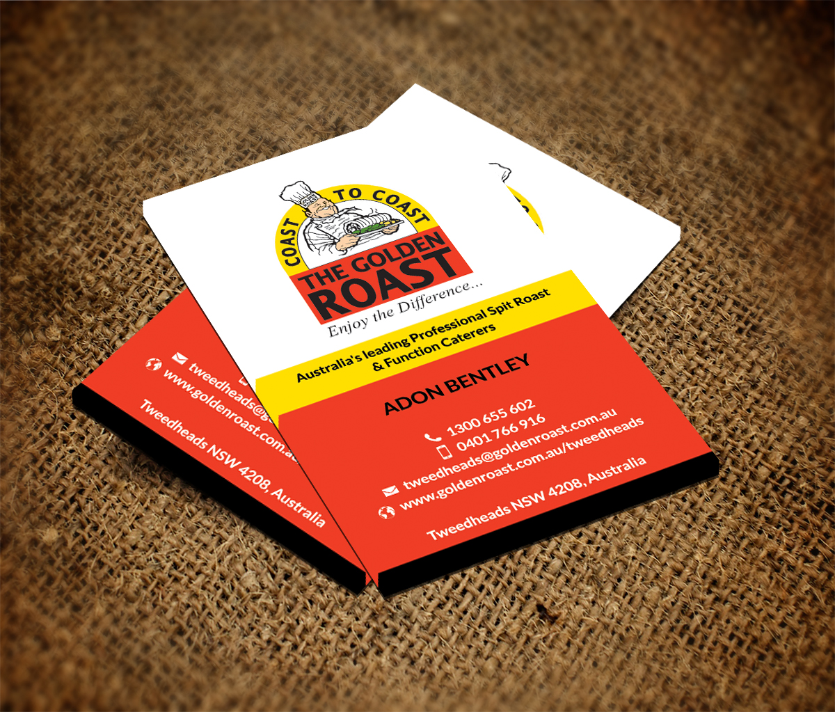 Catering Business Card Design for a Company by Smart Designs ...