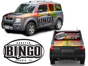 Graphic Design by R&Y Designs - Honda Element Car Wrap for Booster Bingo