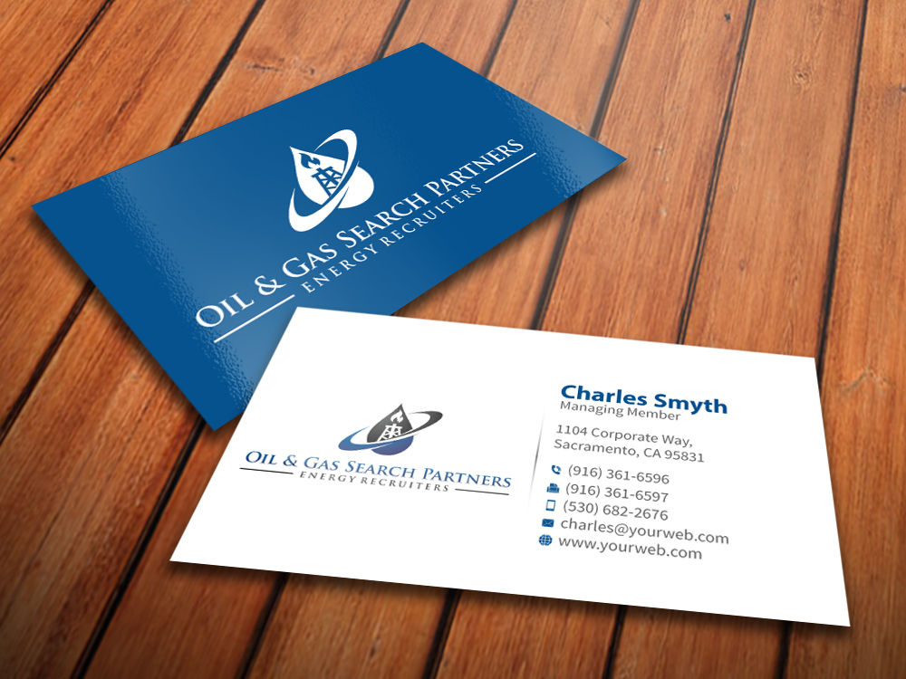 Oil And Gas Business Card Design for a Company by MediaProductionArt ...
