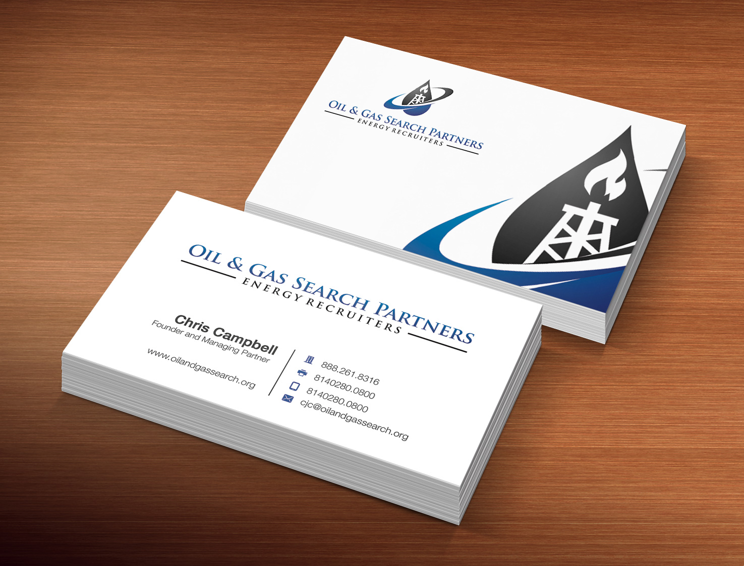 Oil And Gas Business Card Design for a Company by Pawana Designs ...