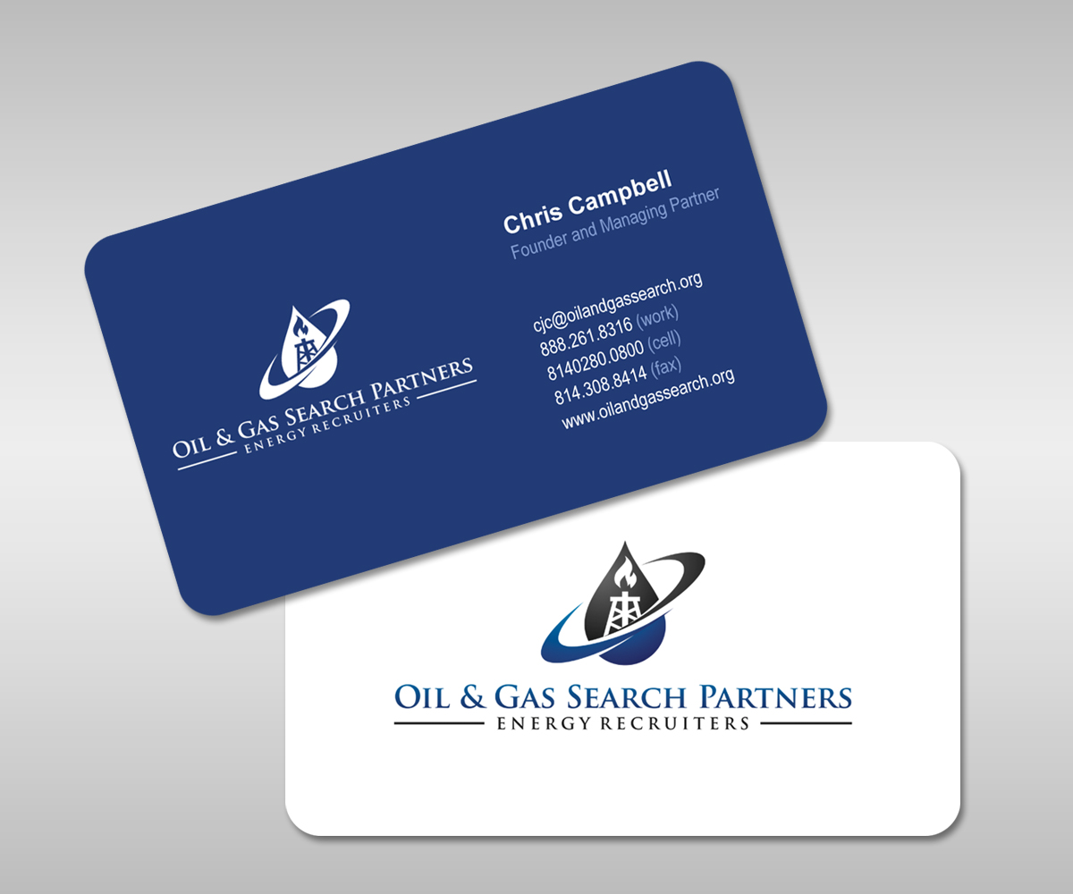 Oil And Gas Business Card Design for a Company by midorichan ...
