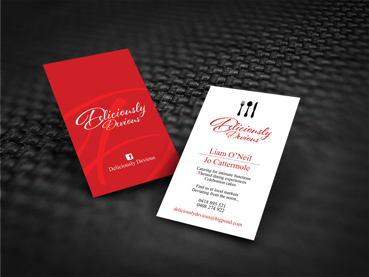 78 Business Card Designs | Catering Business Card Design Project for ...