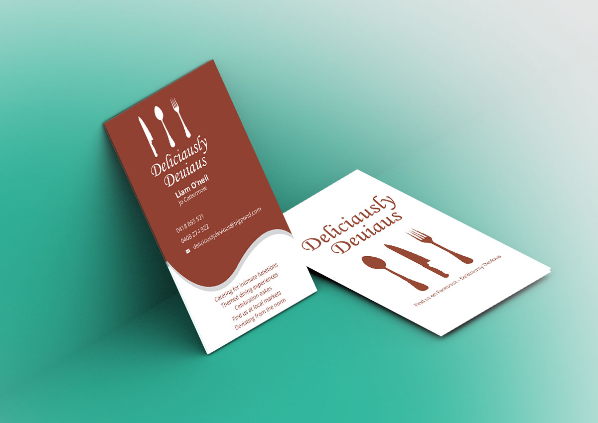 Catering Business Card Design For A Company By Verified