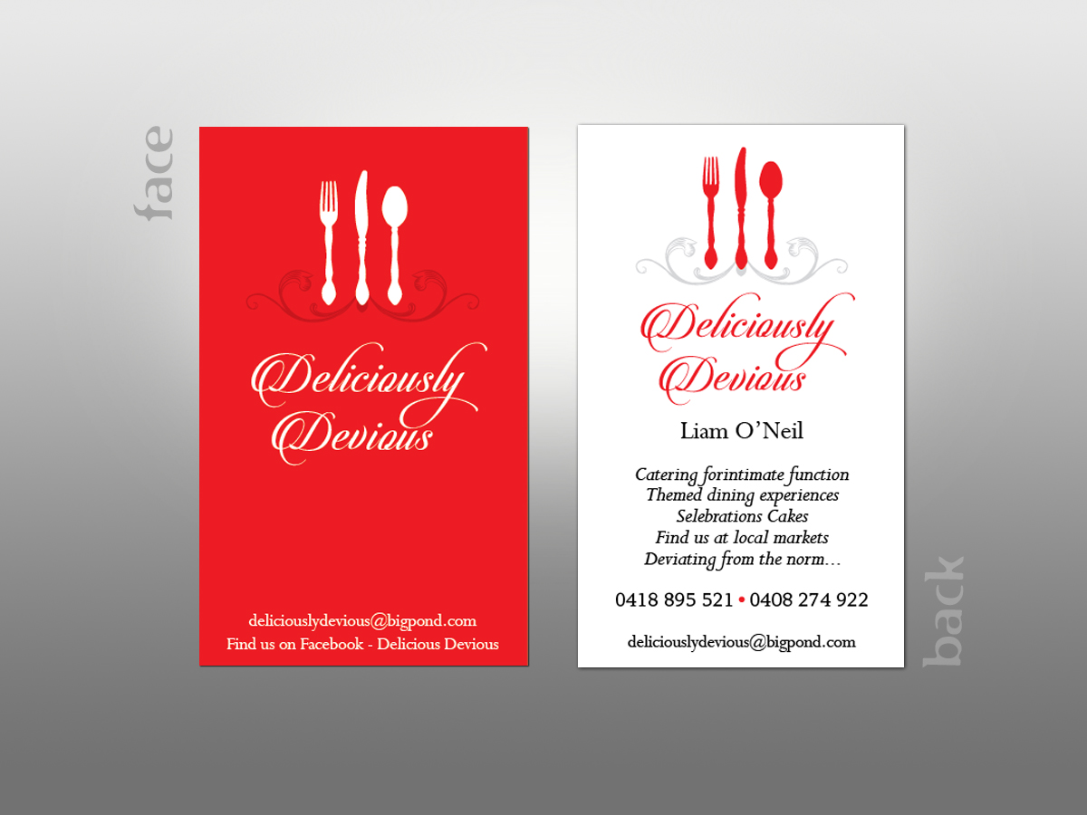 Catering Business Card Design for a Company by MilM | Design #4905338