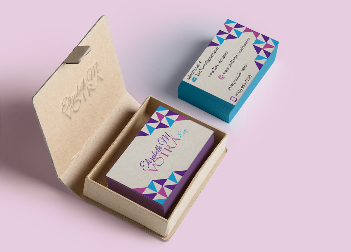 Bold, Playful Business Card Design for Liz by Designs by Audra ...