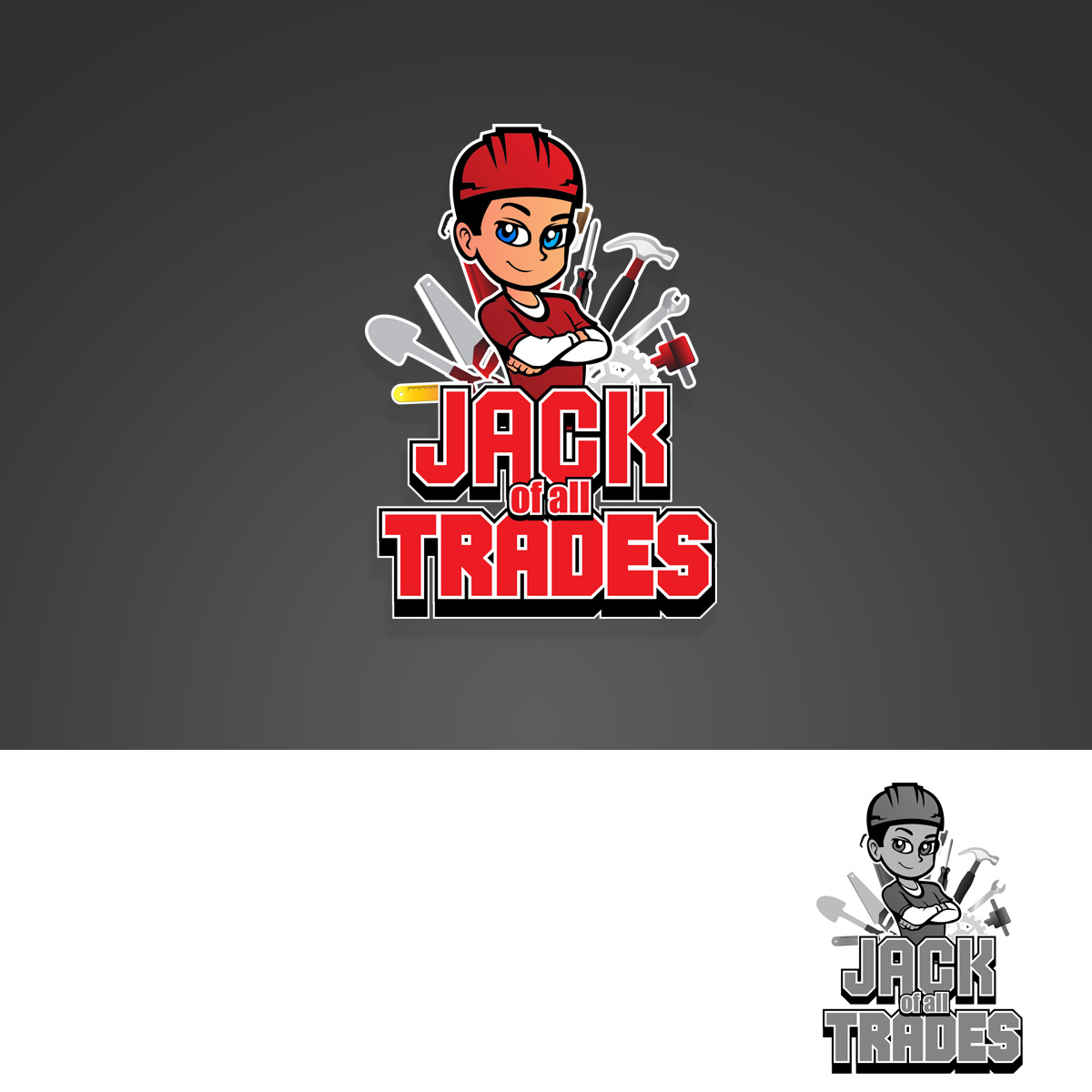 26 Masculine Playful Handyman Logo Designs For Jack Of All