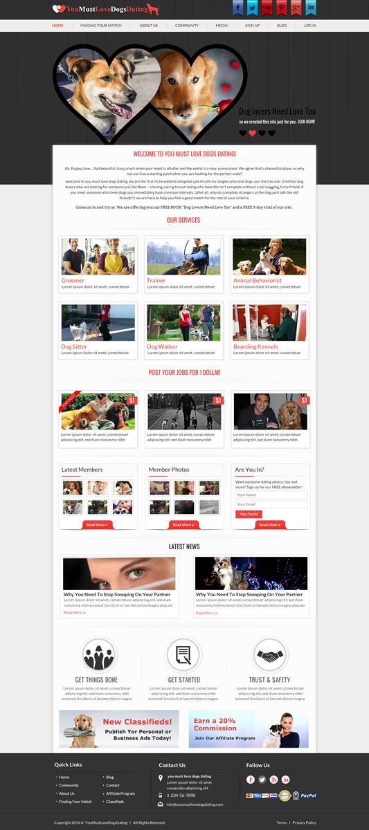 Dating website design software