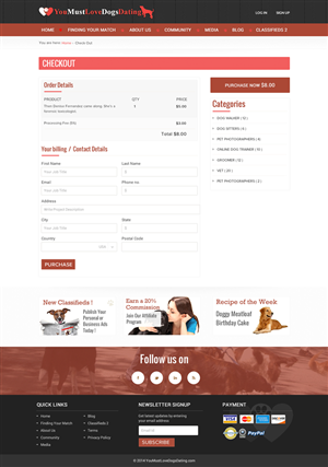 Web Design by aloksai - Dog Lovers Classified page built, need great de...