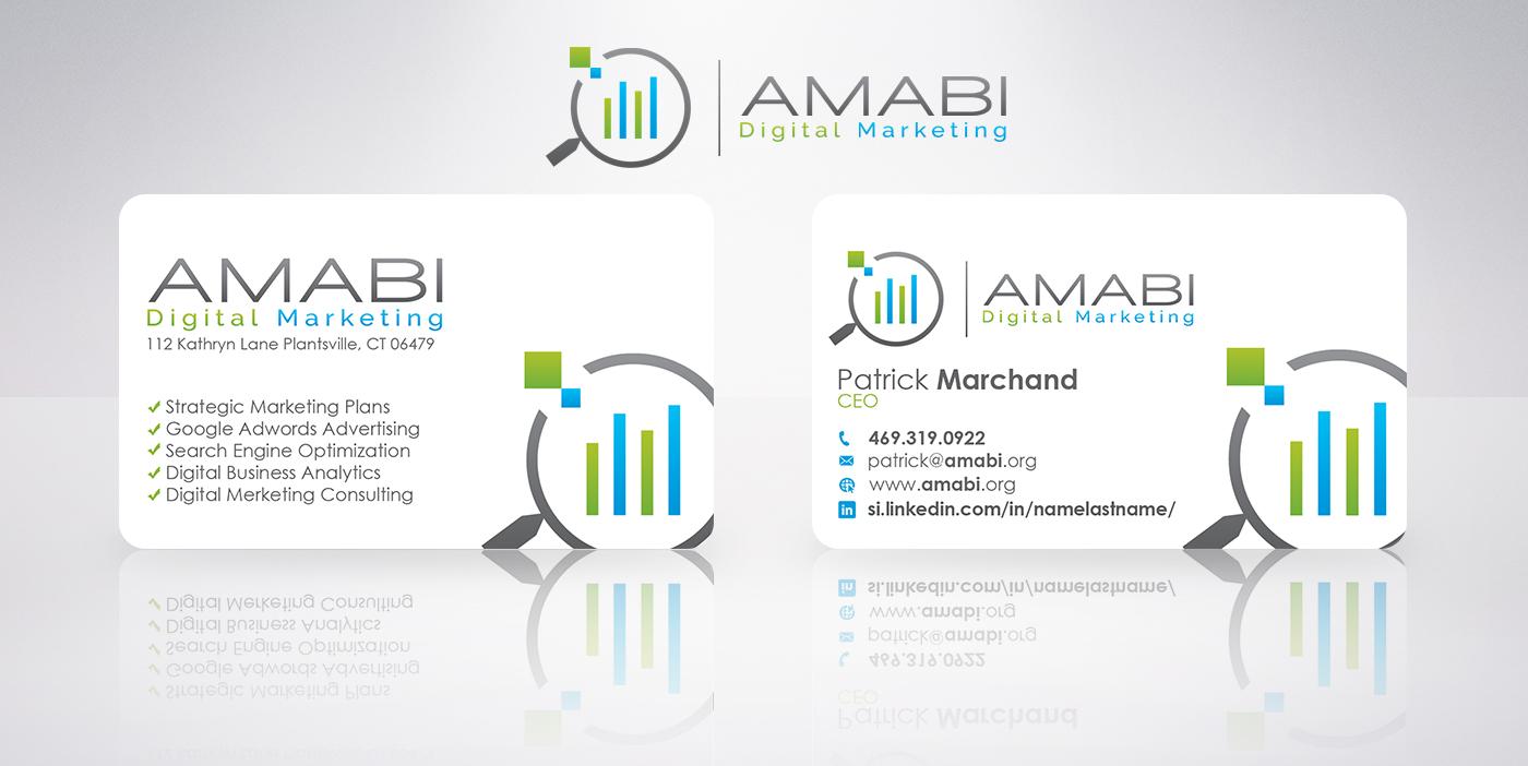 serious modern marketing business card design for boŠtjan koŠec