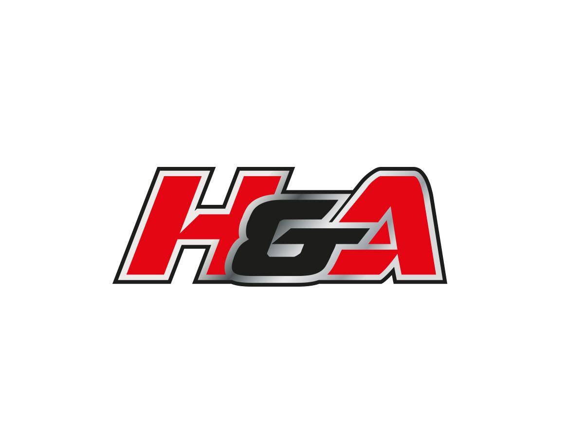 Masculine Bold Construction Logo Design For H Or Ha Or Ha Or