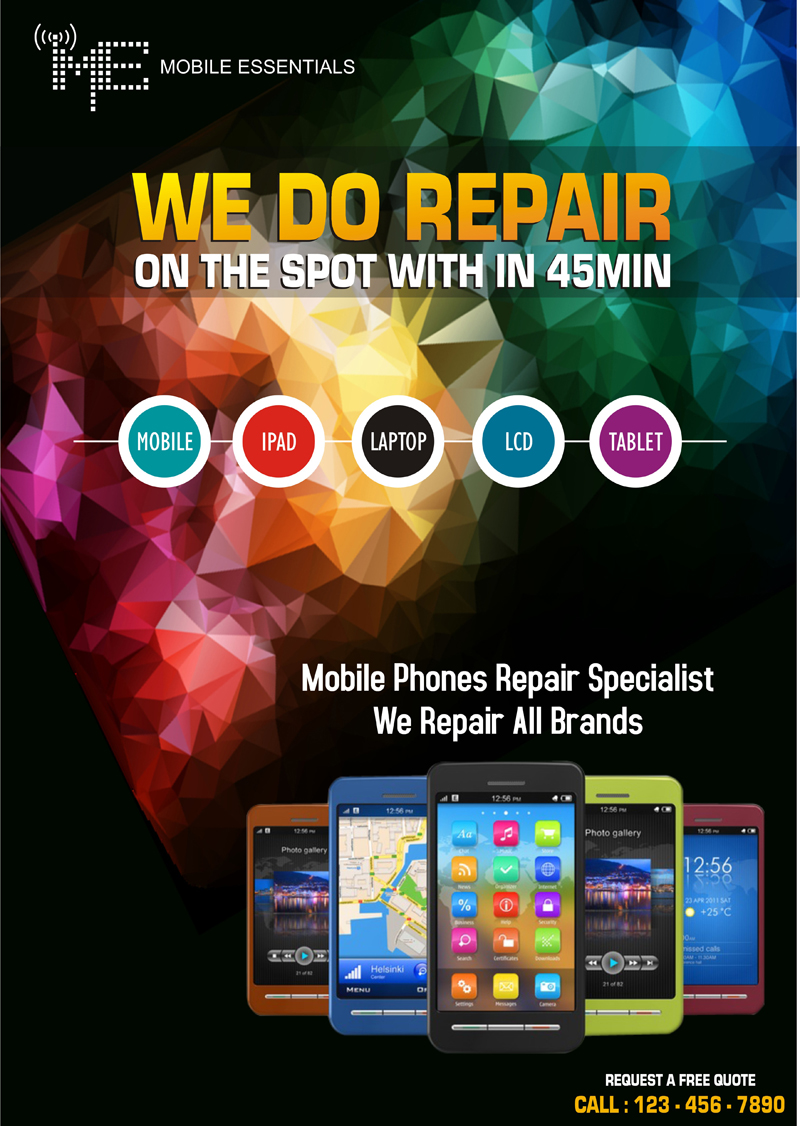Phone Repair Poster Design for a Company by webwinner ...