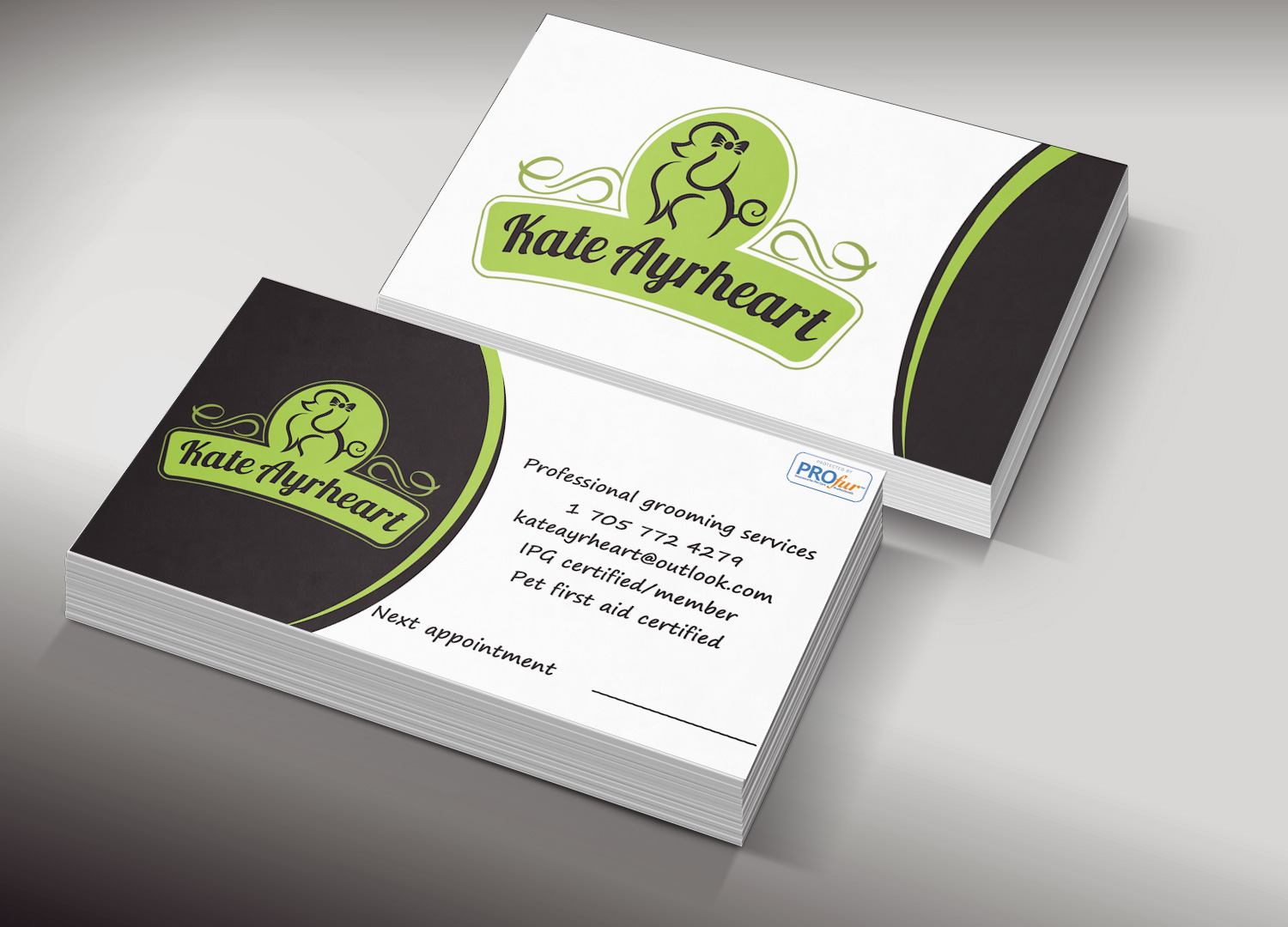 Elegant, Professional Business Card Design for Kate by Lanka Ama ...