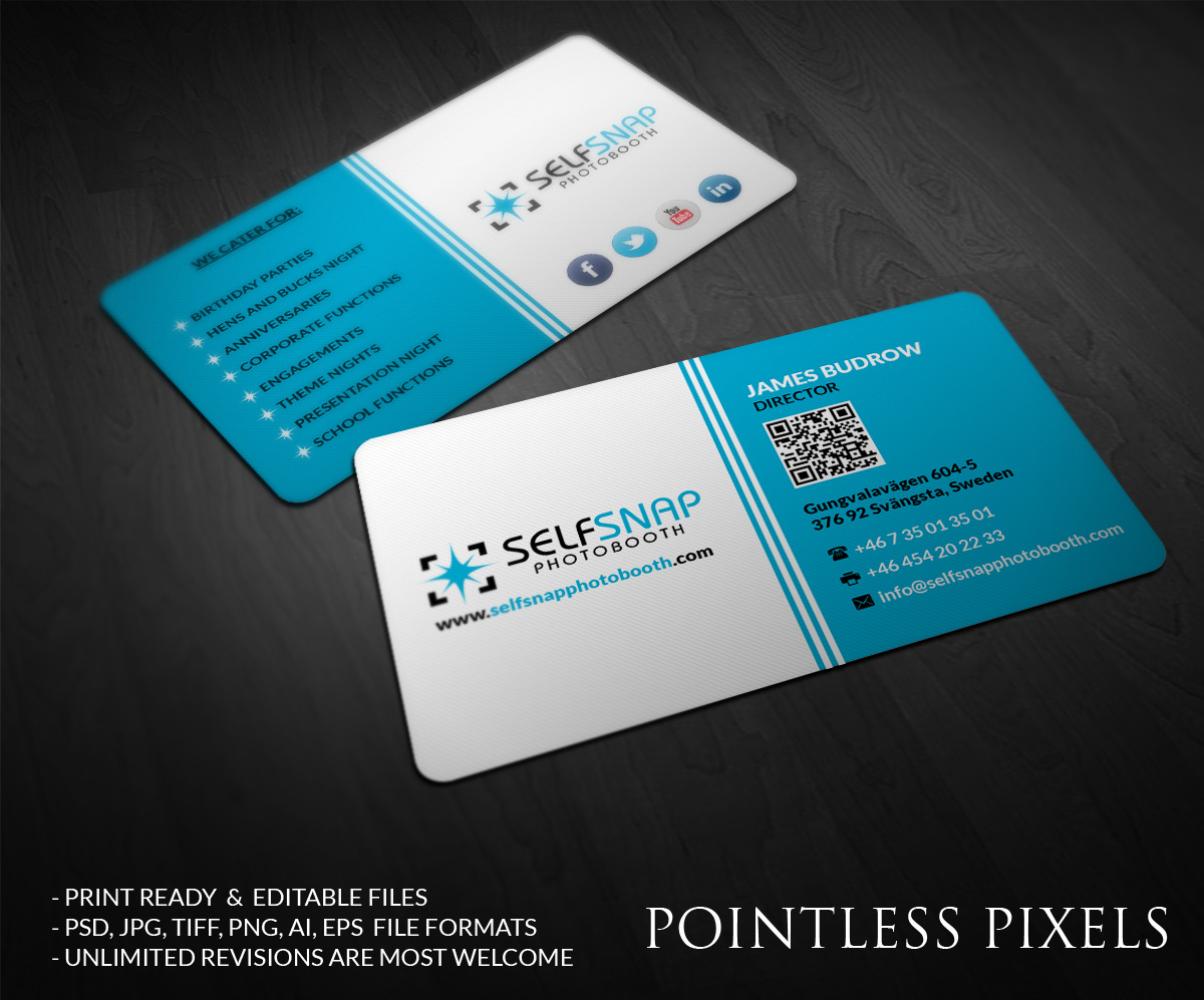 Business card design for andrew heath by pointless pixels for Business card pixels