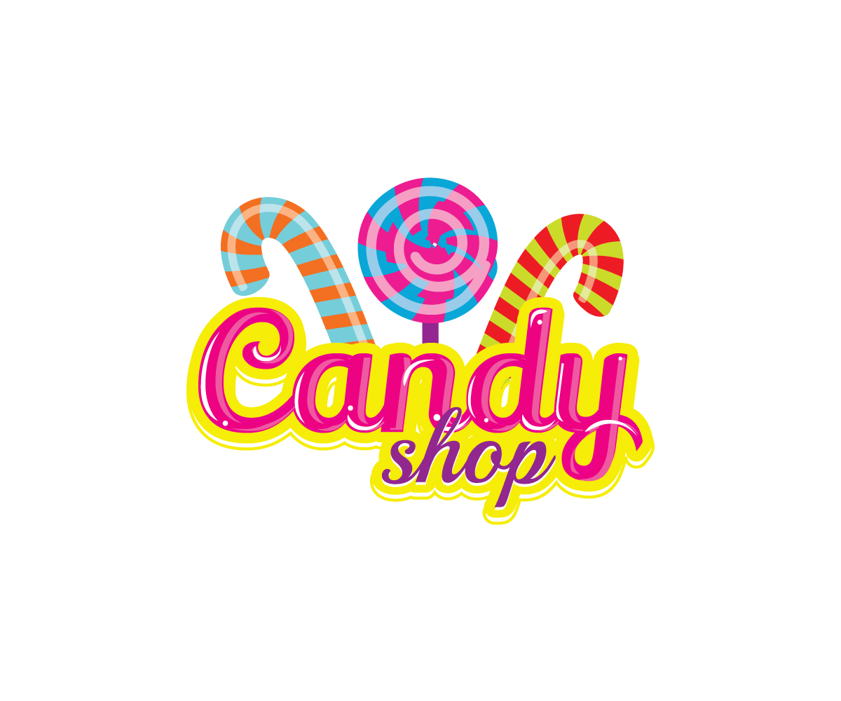 shop logo design for candy shop by dzains design 4936339