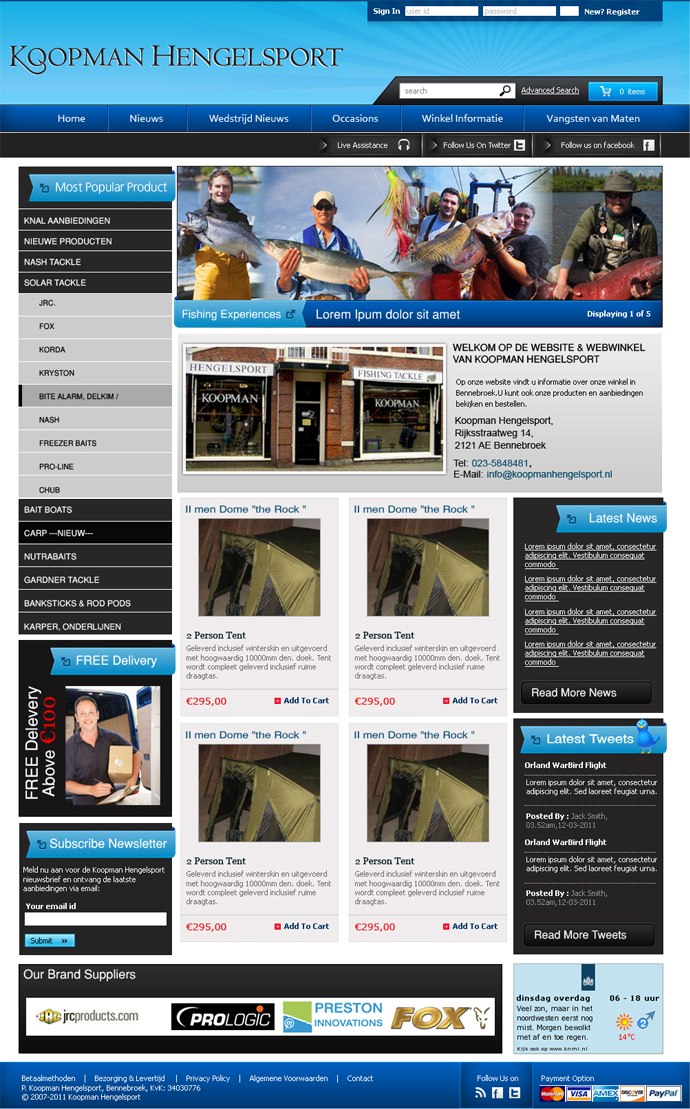 Masculine serious shop web design for a company by for Masculine web design