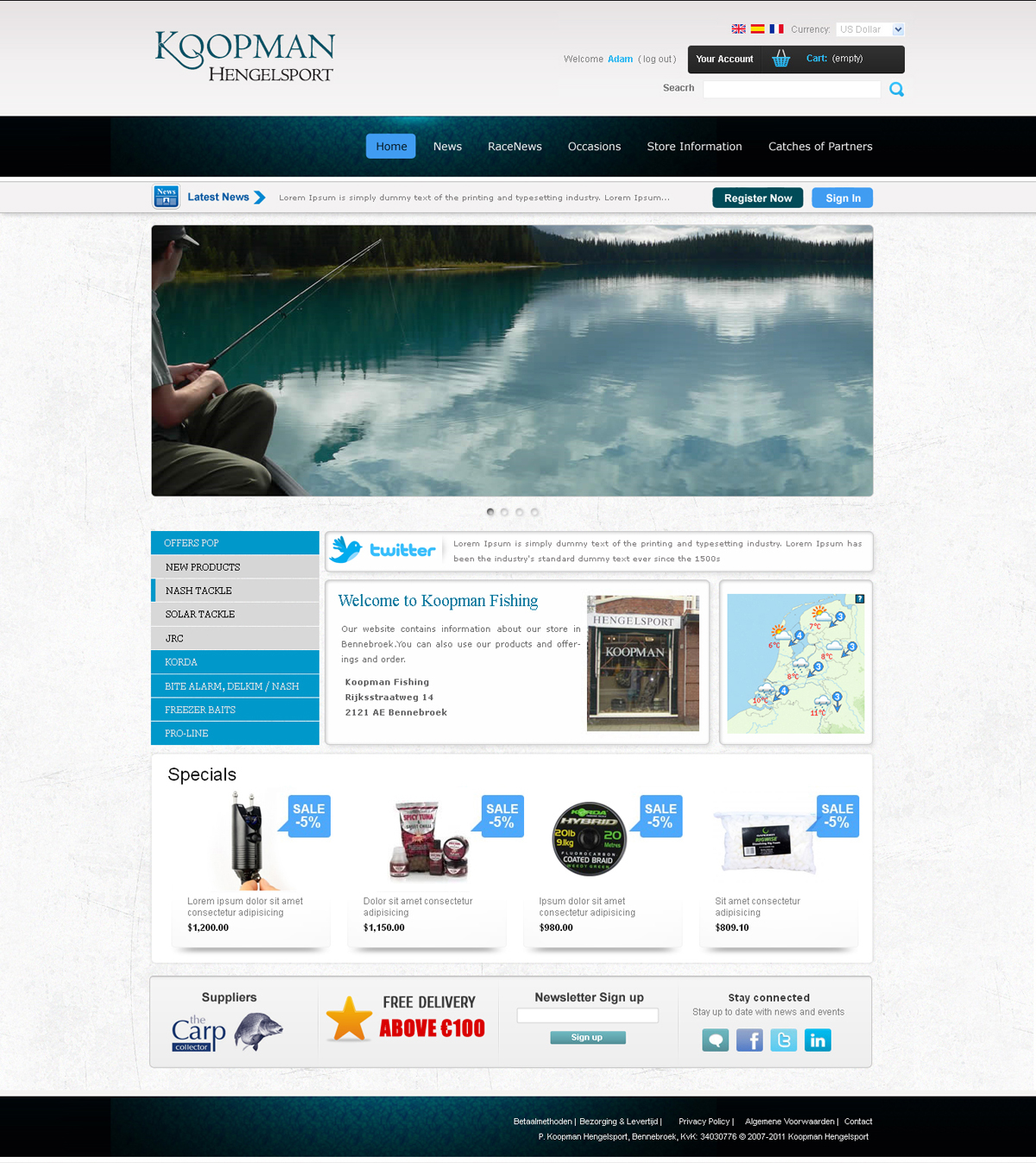 Masculine serious shop web design for a company by tebu for Masculine web design