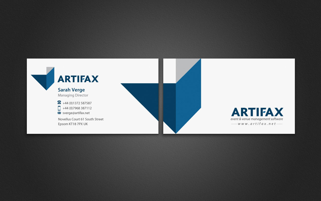 Software business card design for artifax software limited by business card design by pixelfountain for artifax software limited design 4927370 reheart Image collections