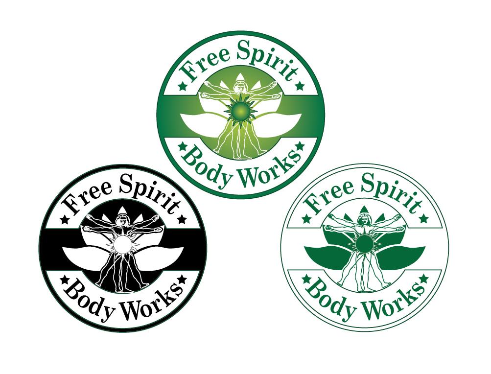 Massage Logo Design For Free Spirit Bodyworks By Mindscape Design