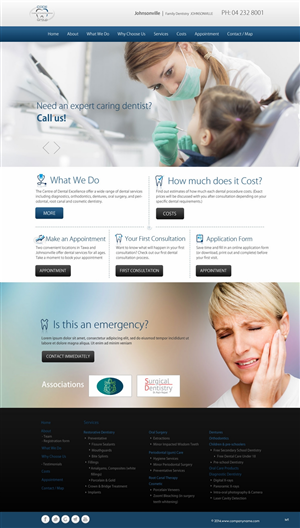 Web Design by pb - Modern home page design for a Dental Surgery
