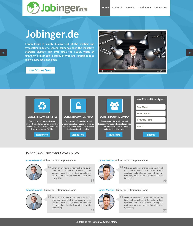 Modern, Elegant, Business Web Design for Jobinger by Advent
